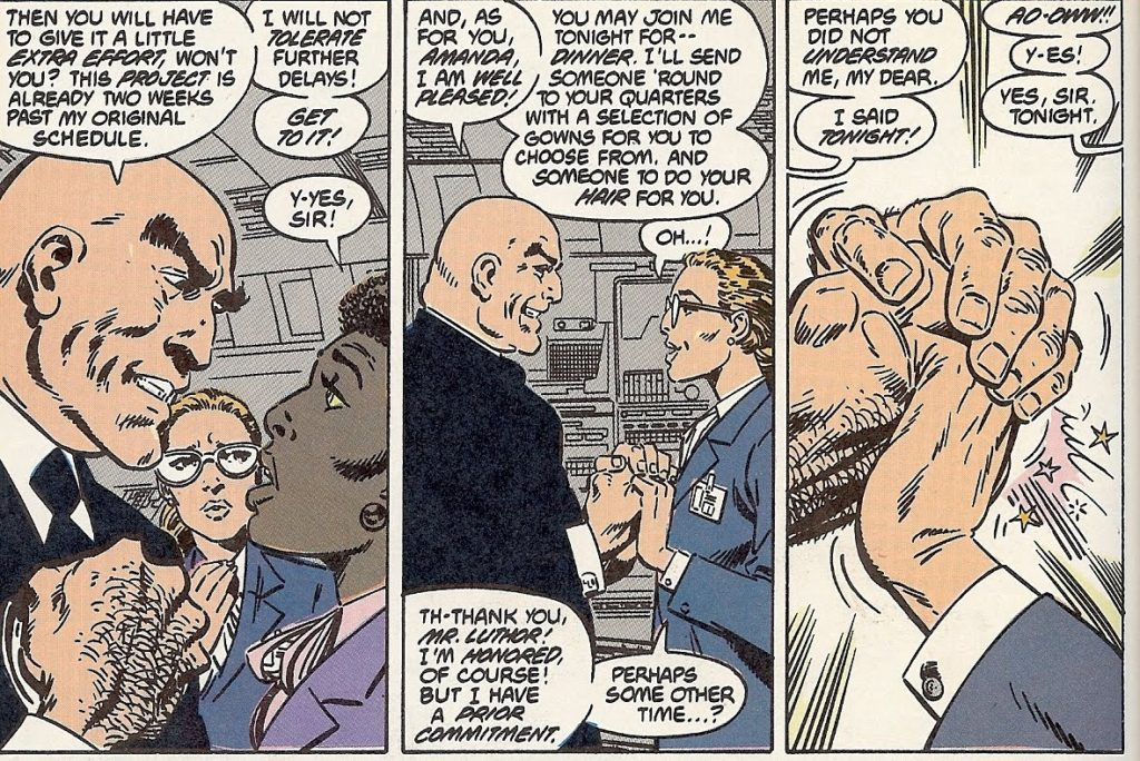 Lex Luthor as evil business man in the 1980s
