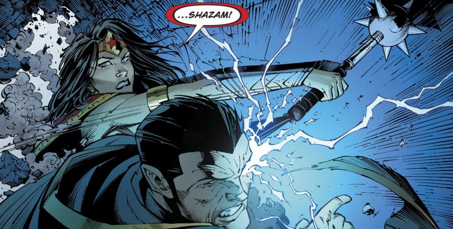 Wonder Woman gives the ol 1 2 to Black Adam