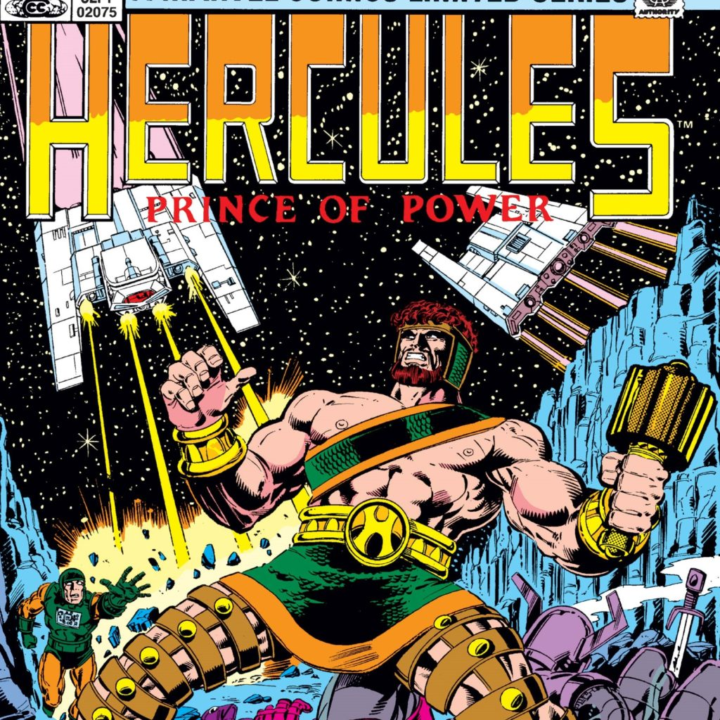 Hercules in his first ongoing limited series the Prince of Power by Bob Layton
