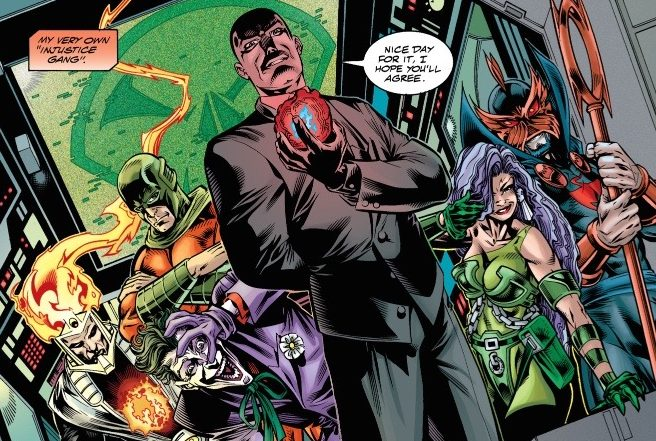 "Lex Luthor forms an Injustice League during the Grant Morrison written ""Rock of Ages"" story arc"