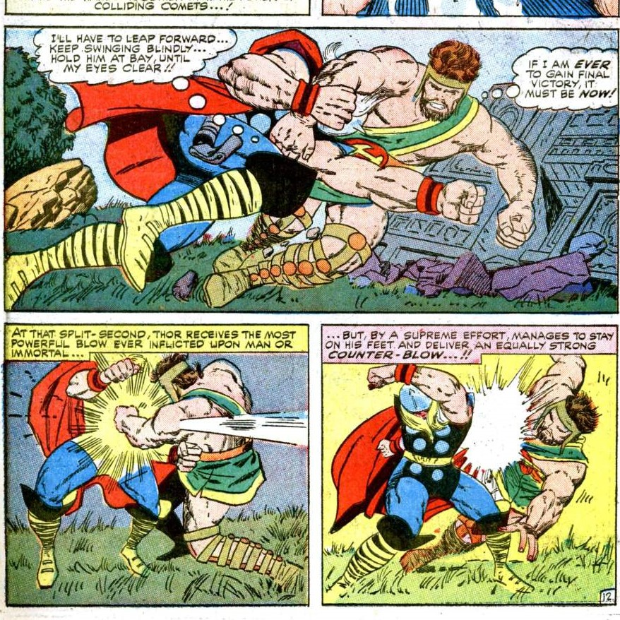 Thor meets Hercules in Marvel Comics