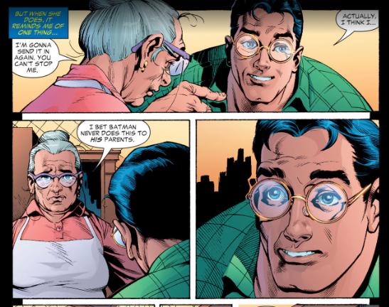 Mom Kent talks about Batman's parents with Superman