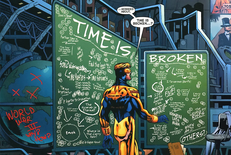 Booster Gold uncovers mysteries during weekly 52 comic book series