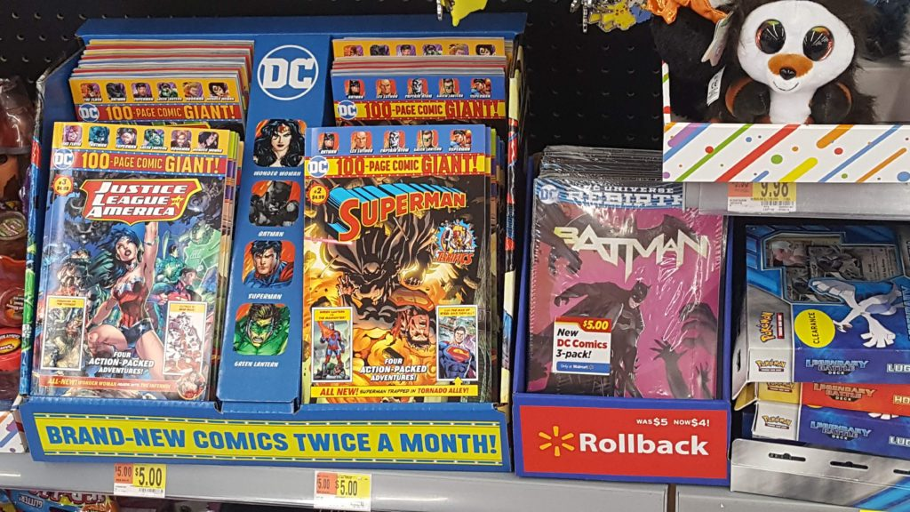 Where to find DC Comics at Walmart