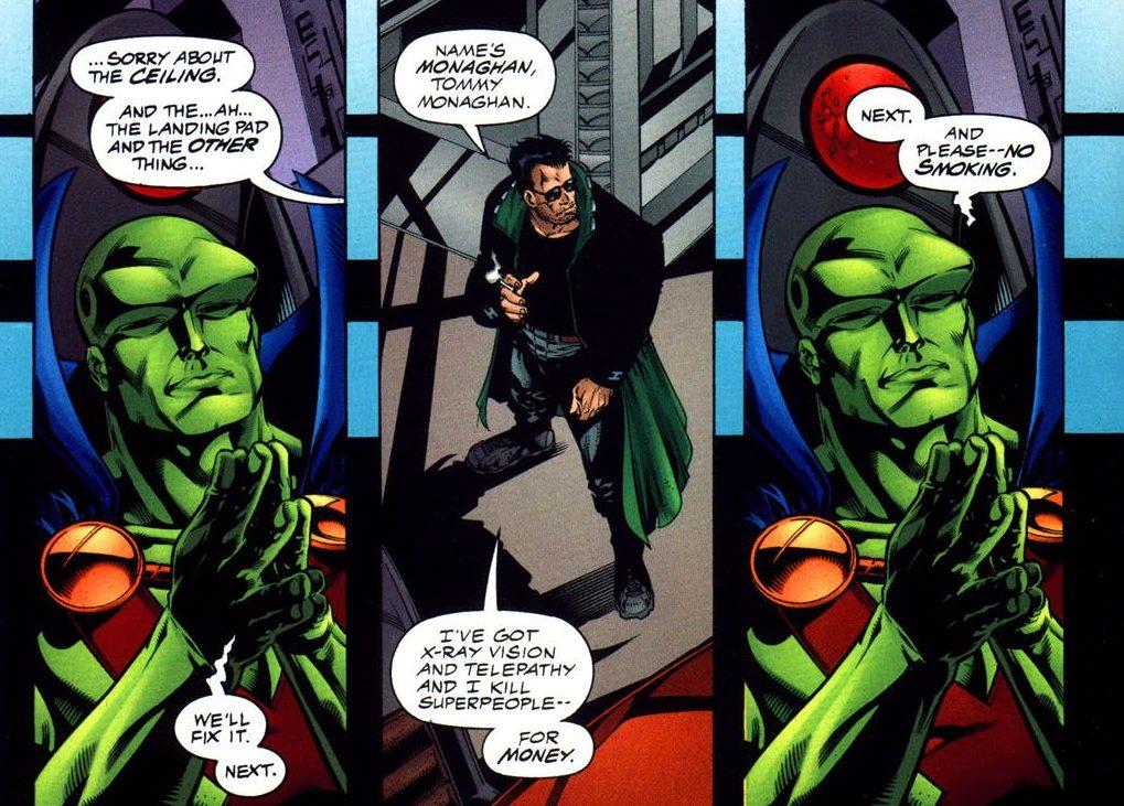 martian manhunter holds JLA auditions