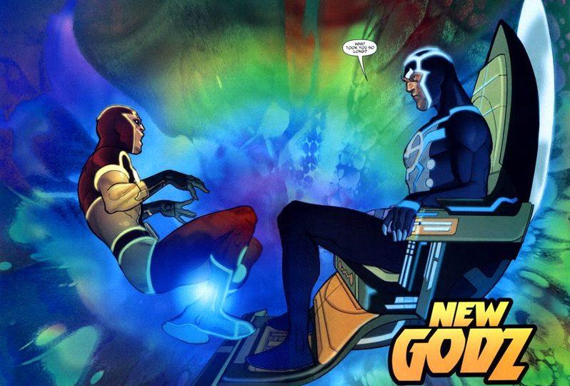 Mister Miracle and Metron in Seven Soldiers