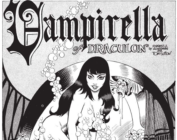 Early horror comics featuring Vampirella
