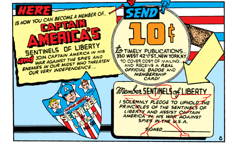 Joining Captain America's original sentinels of liberty club