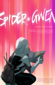 Spider-Gwen visual reading order