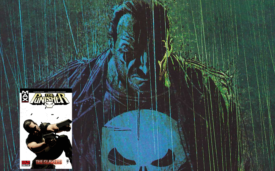 "Punisher in ""The Slavers"" comic book story"