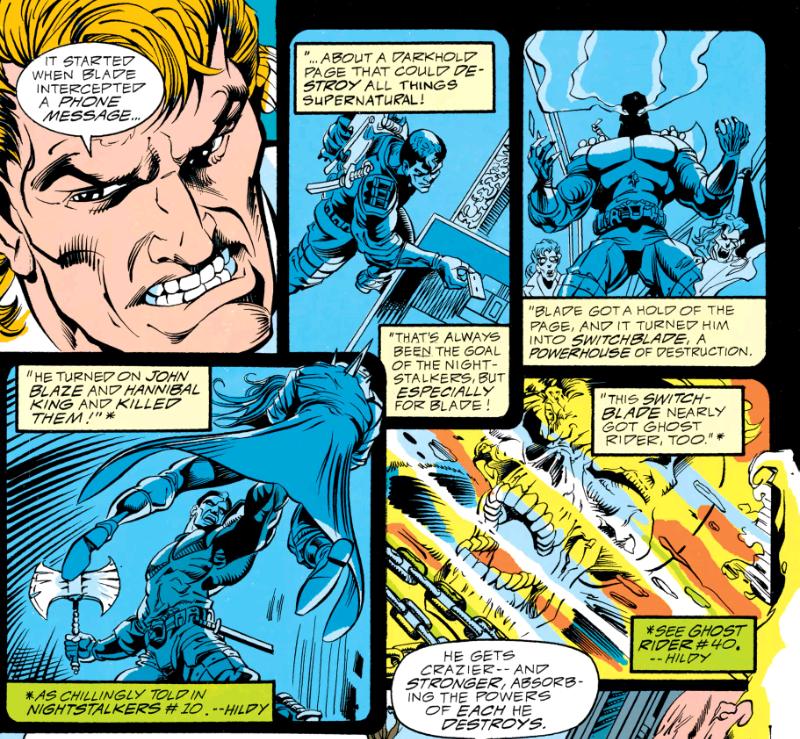 Blade gets possessed in Midnight Massacre