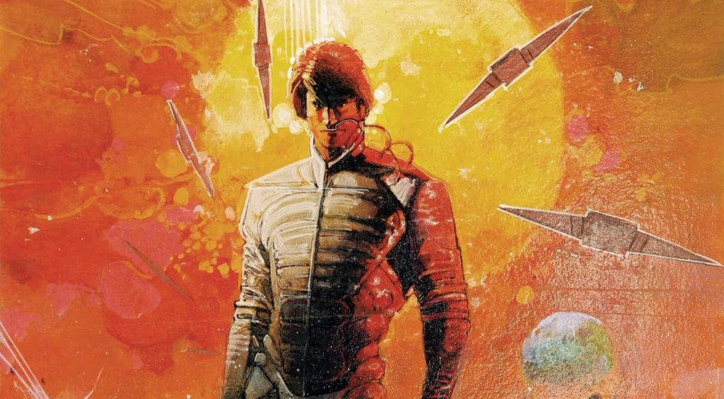 Bill Sienkiewicz drawing Dune for Marvel Comics