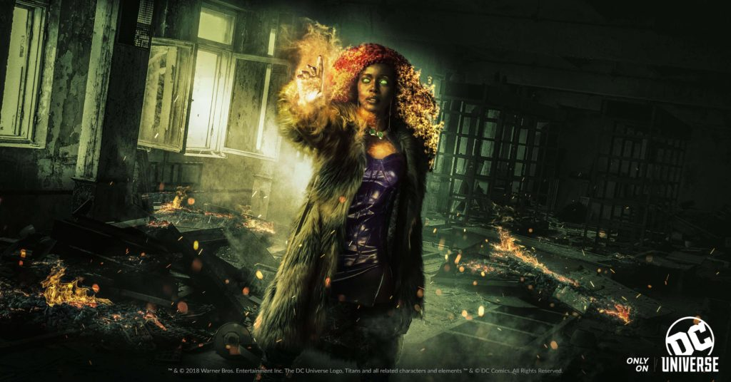 Starfire on the DC Universe tv series Titans