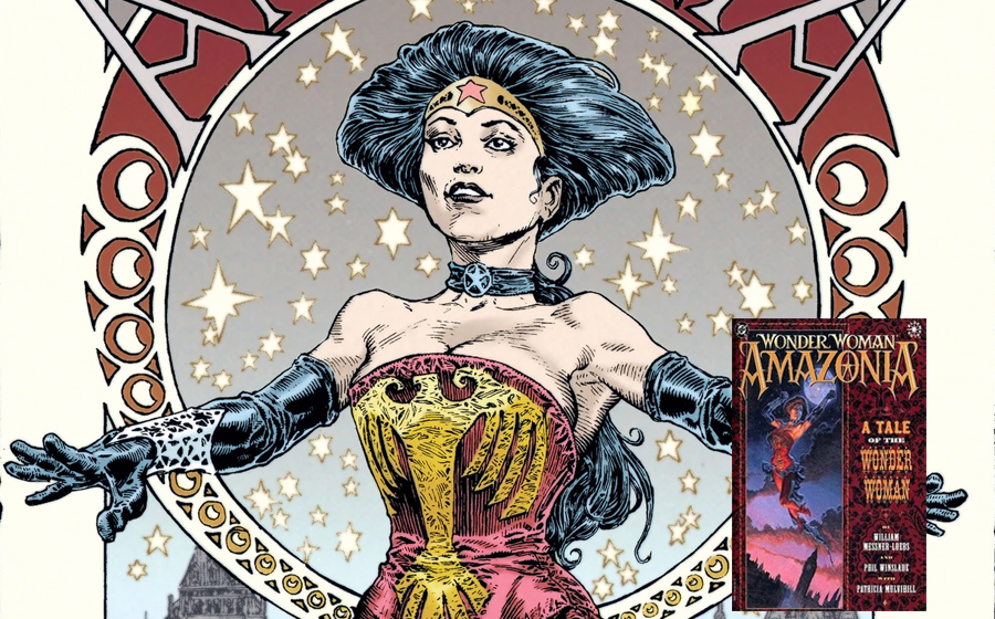 Wonder Woman in a steampunk graphic novel
