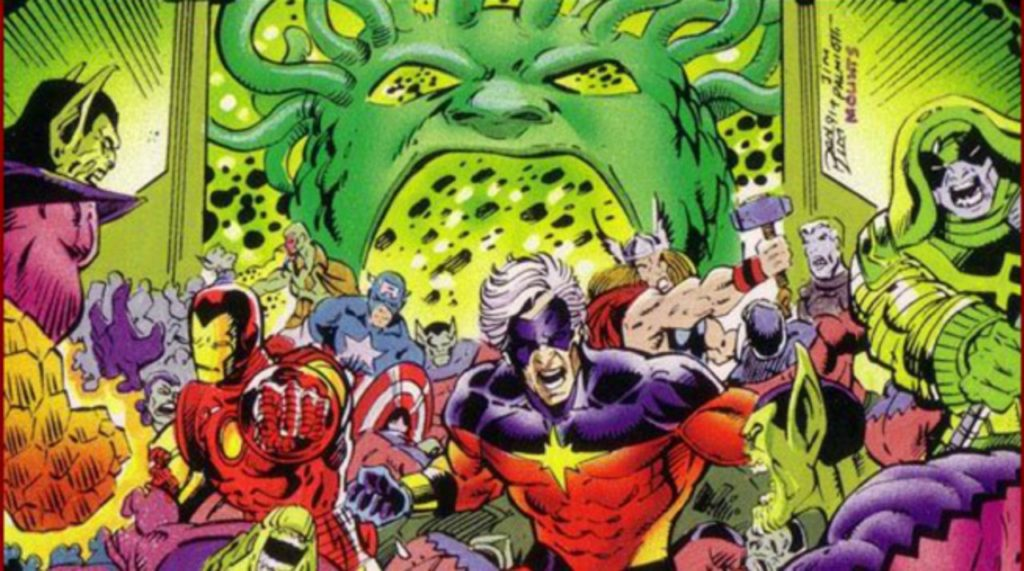The Avengers get mixed up in the Kree vs Skrull war