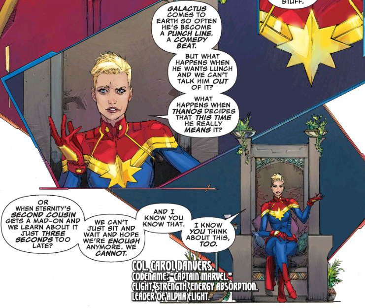 captain marvel dissects the big problems