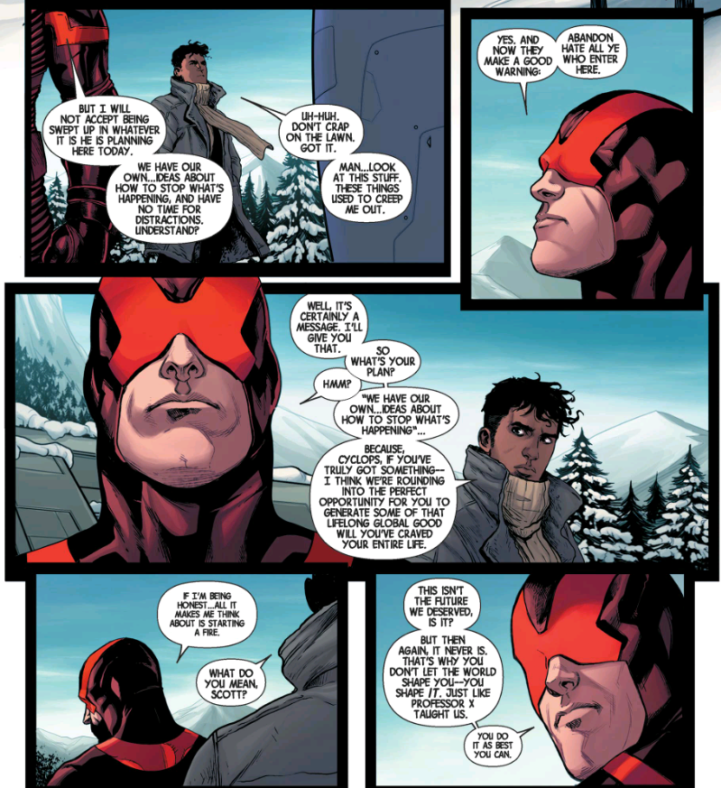 Cyclops plans to stop Secret Wars himself