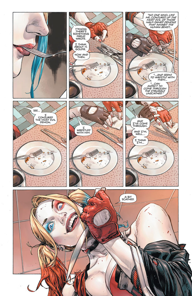 Harley Quinn in Heroes in Crisis