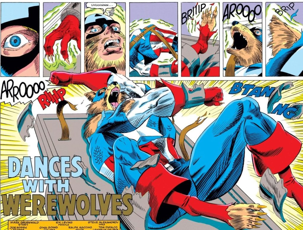 Captain America turns into a werewolf