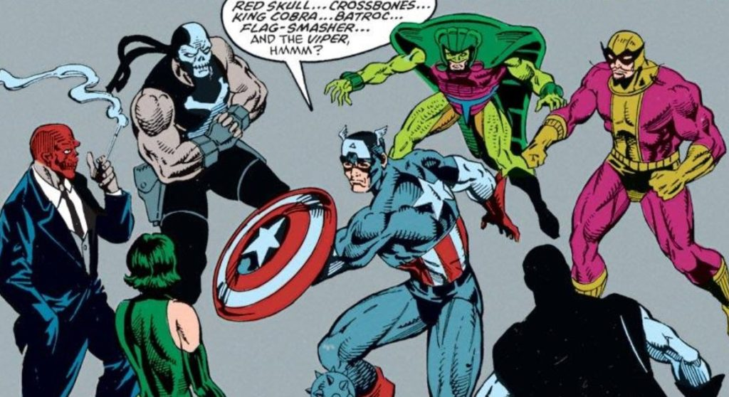 Captain America vs his rogues gallery