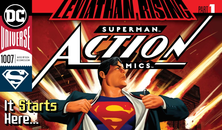Superman takes on Leviathan in a series of spy games across Action Comics