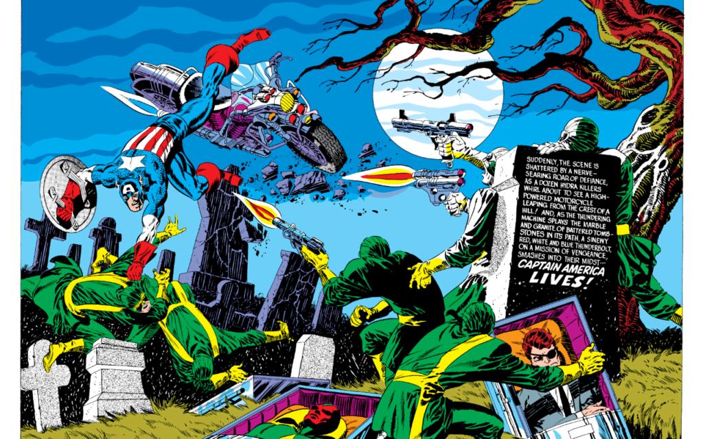 Jim Steranko art on Captain America comics