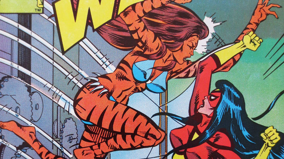 Jessica Drew (Spider-Woman) fights Tigra