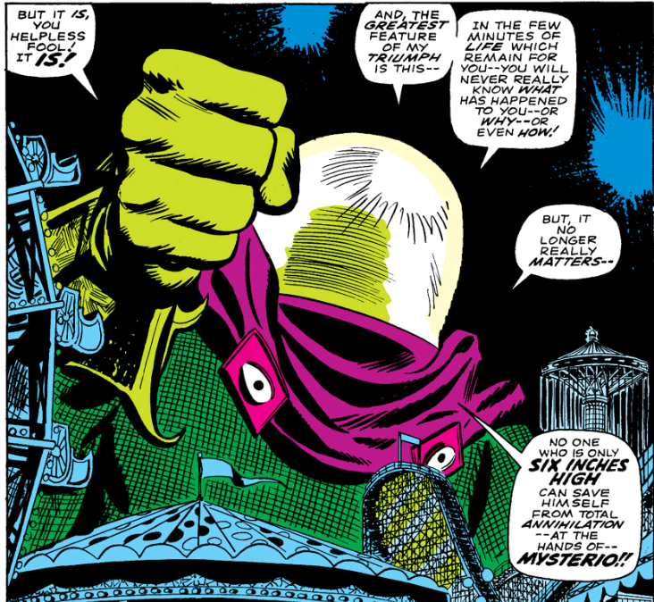 Mysterio seeks to squash Spider-Man