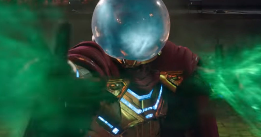 Mysterio's costume in Spider-Man Far From Home