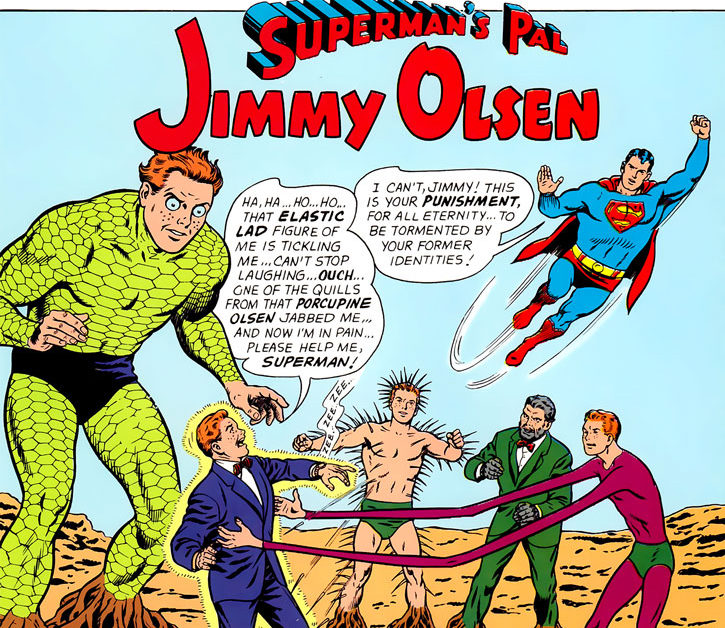 Silver Age Jimmy Olsen and his former identities