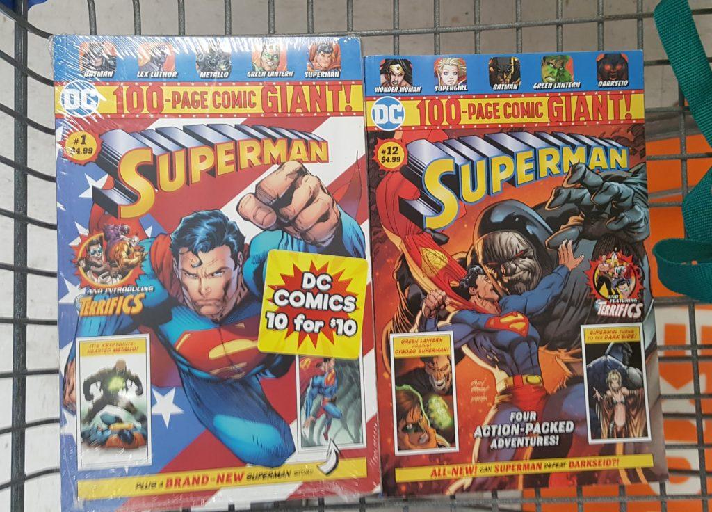 Superman comics bought at Walmart