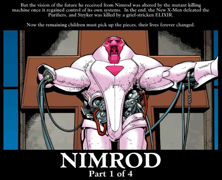 New X-Men vs Nimrod