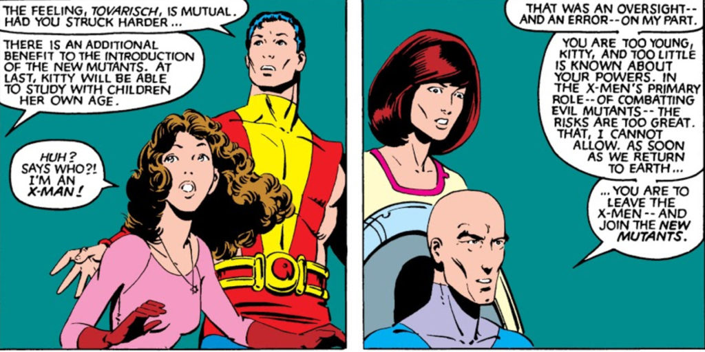 Kitty argues with Professor X about being in the X-Men