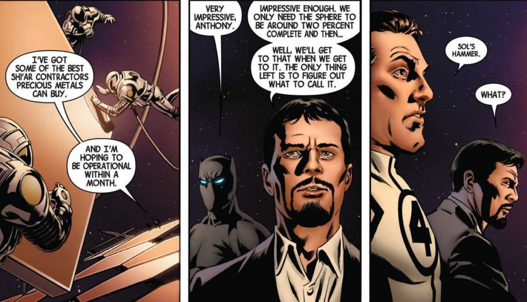 Reed Richards names Sols Anvil