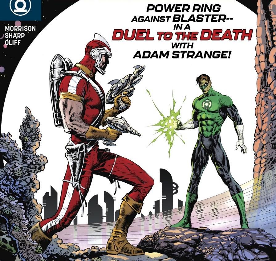 Adam Strange vs Hal Jordan in Morrison and Sharpe's Green Lantern