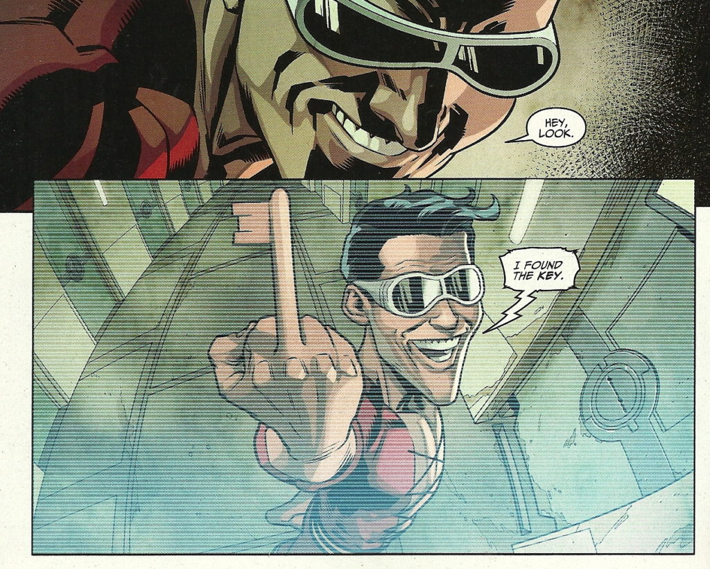 Plastic Man in the pages of DC's Injustice