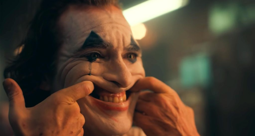 Joker puts on a happy face