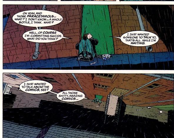 Grant Morrison writing about comic books in Flex Mentallo