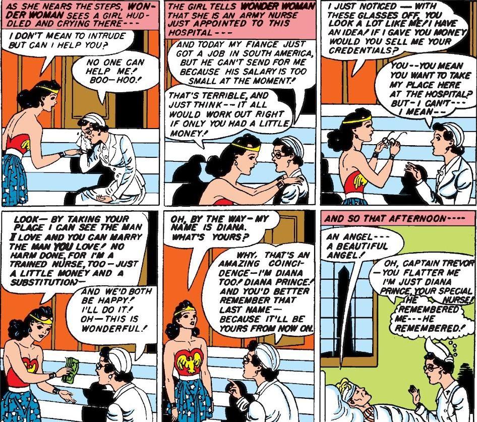 Diana buys her secret identity