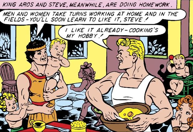 Steve Trevor likes cooking