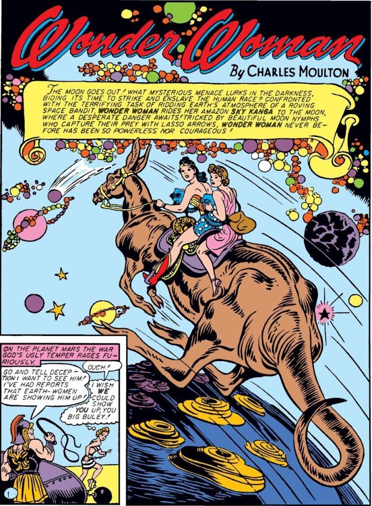 Wonder Woman on a Kangaroo