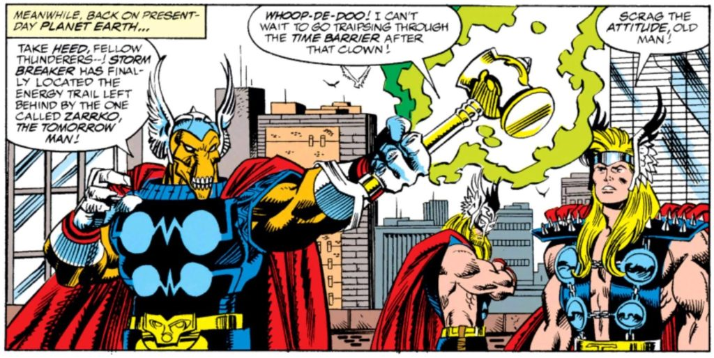 Beta Ray Bill in the 90s comic book series Thor Corps