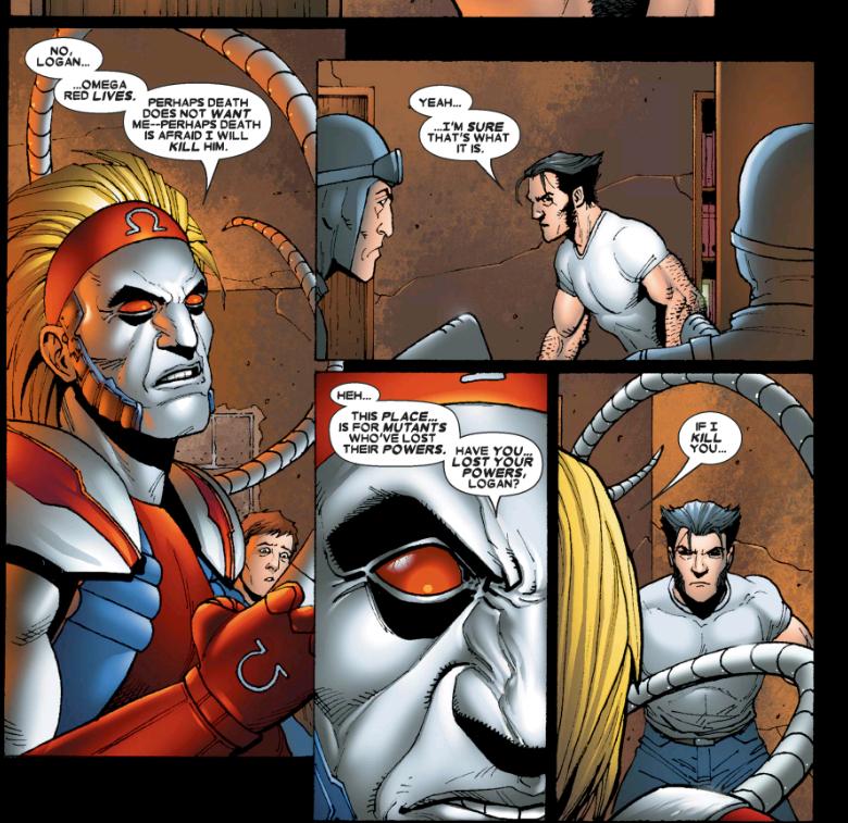 Omega Red in Wolverine Origins comic books by Steve Dillon