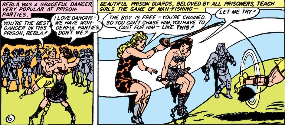 Wonder Woman comics go man-fishing