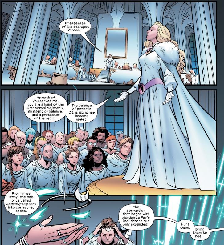 Excalibur #9 Saturnyne vs X-Men