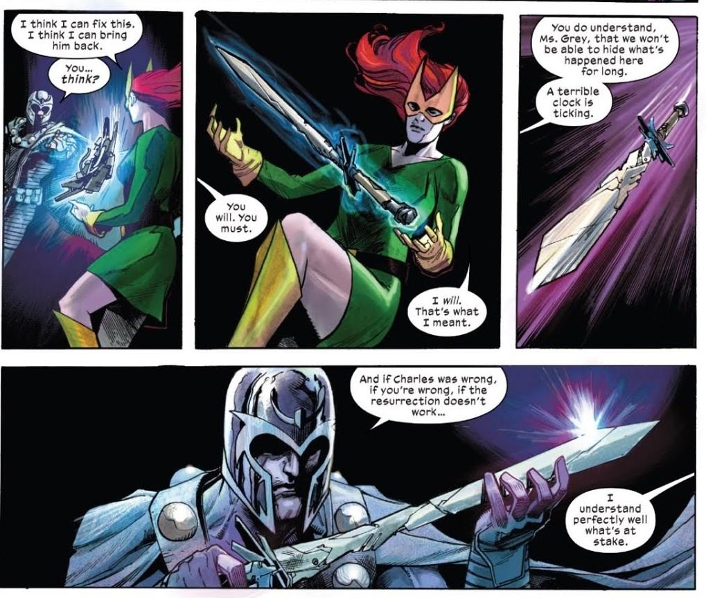 X-Men comics with Magneto and the Cerebro Sword