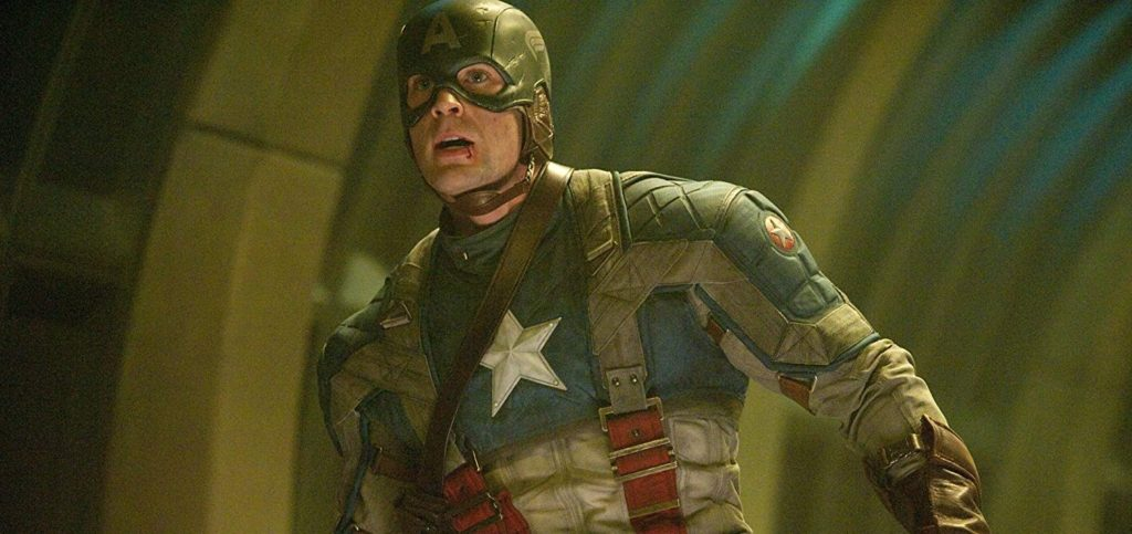 Captain America in his debut movie in the Marvel Cinematic Universe