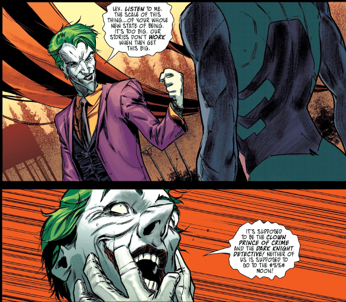 Joker in the pages of Year of the VIllain Hell Arisen