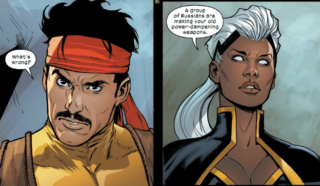 Storm confronts Forge in Marauders #10