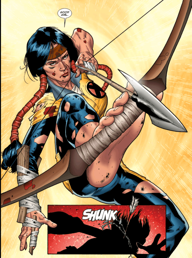Mirage aka Dani Moonstar in New Mutants comics